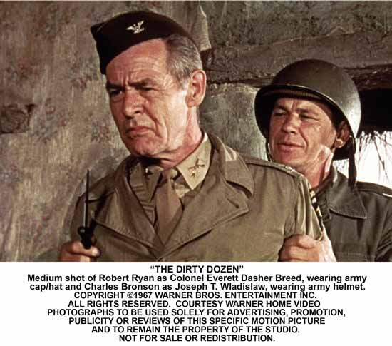 Dirty Dozen with Robert Ryan and Charles Bronson