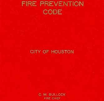 Fire Prevention Code City Of Houston