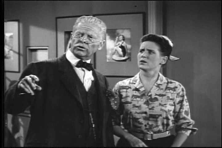 BOB CUMMINGS AS JOSH COLLINS, ANN B. DAVIS AS CHARMAINE 'SCHULTZY' SCHULTZ