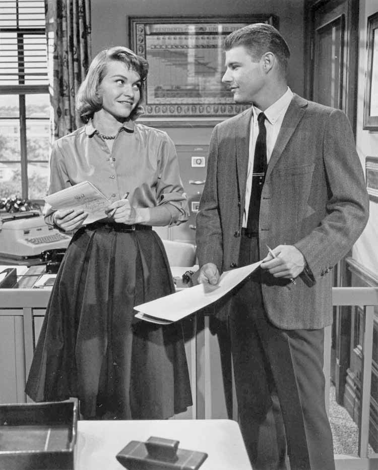 Connie Nelson as Miss Edwards, Dave Nelson