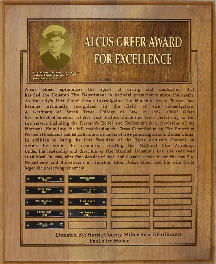 Alcus Greer Award For Excellence